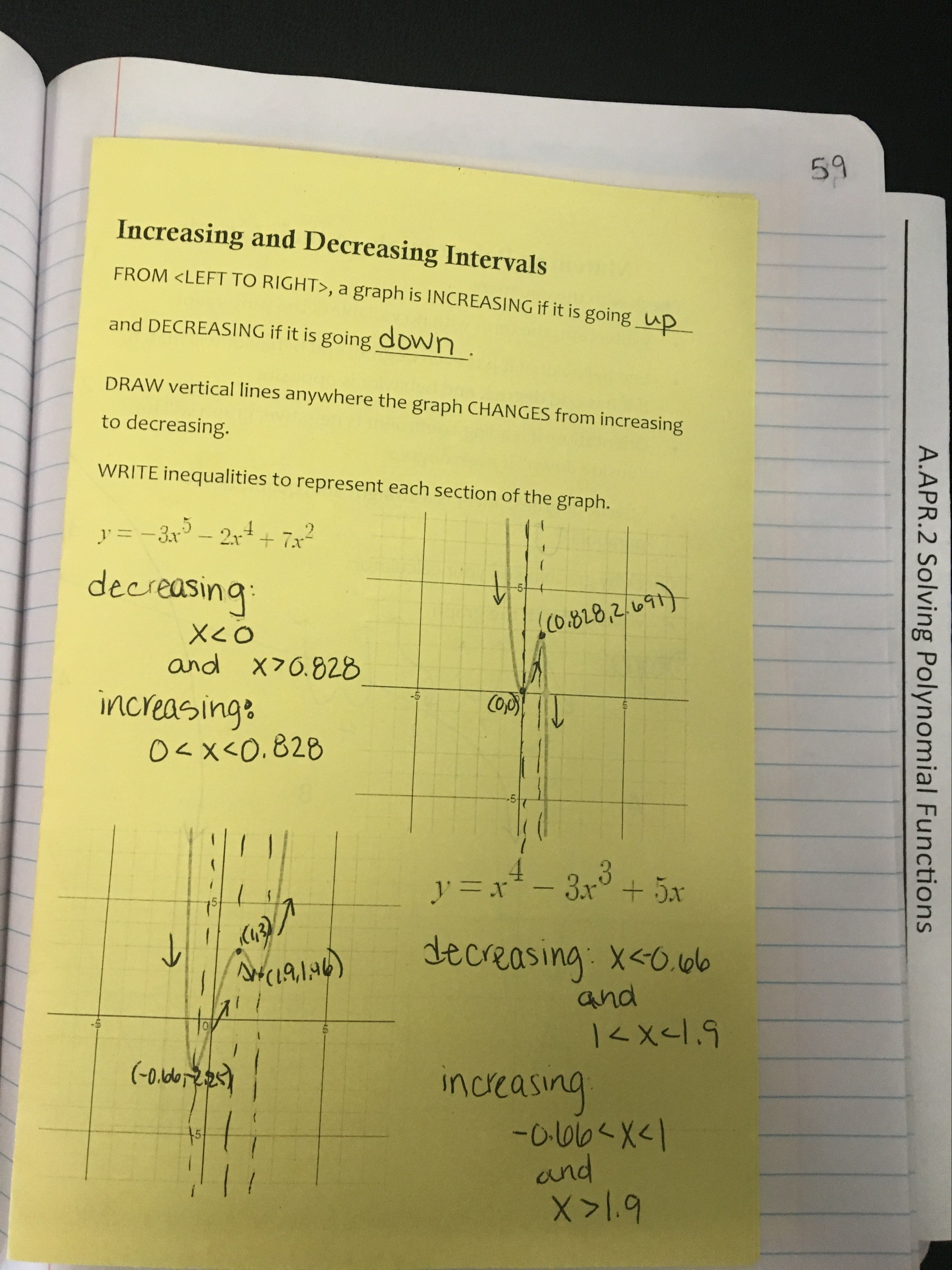 Algebra 2 Unit 5 Interactive Notebooks Polynomial