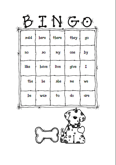 Jolly Phonics Tricky Word Bingo