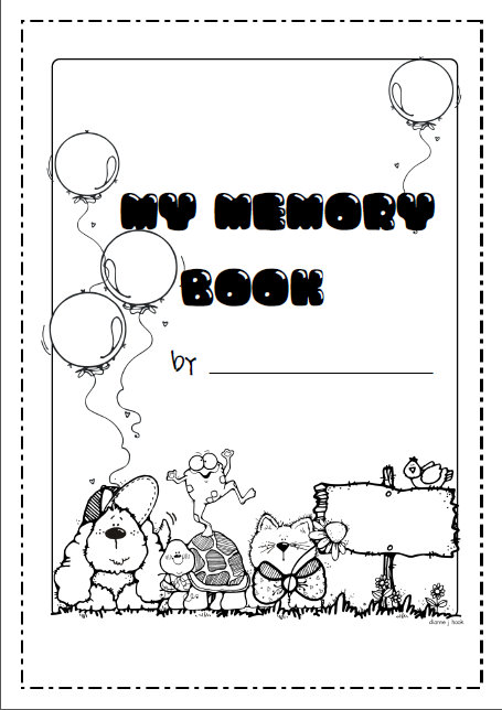 Memory Book to mark the end a another school year