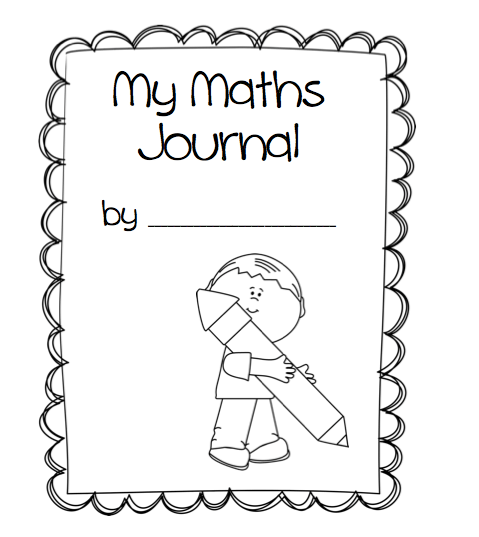 kindergarten math journal cover