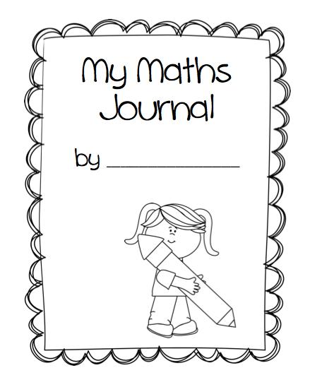 kindergarten math journal cover