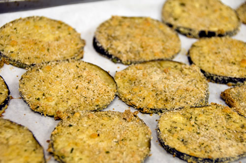 If you have extra, freeze or refrigerate and use later in eggplant parmesan sandwiches.