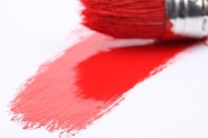 paintbrush painting red
