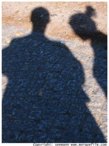 man and woman shadow