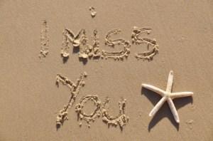 Writing on sand