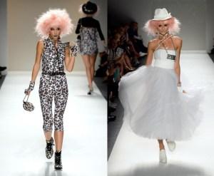 fashion week, pink wig, fashion, model, runway model