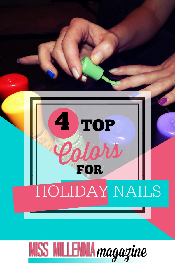 top 4 color for holiday nails