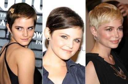 pixie cut emma watson ginnifer goodwin michelle williams