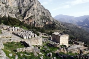 Ancient Ruins in Delphi