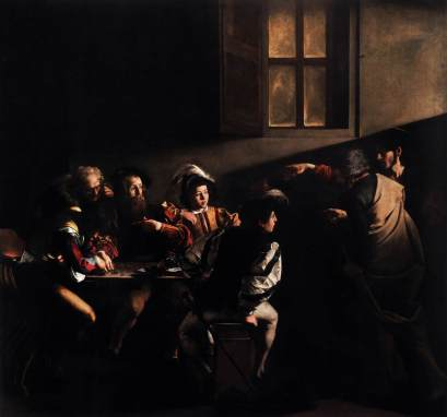 religious art Caravaggio's The Calling of Saint Matthew