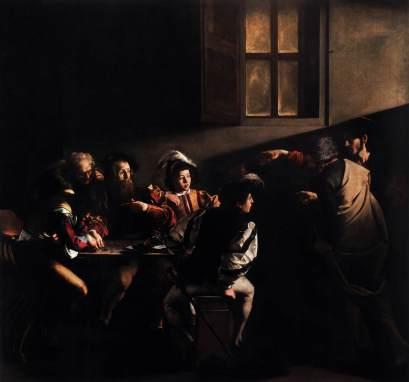 religious art Caravaggio's The Calling of Saint Matthew