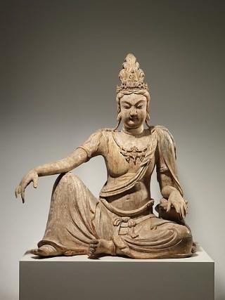 """religious art Bodhisattva Avalokiteshvara in """"Water Moon"""" Form (Shuiyue Guanyin)"""