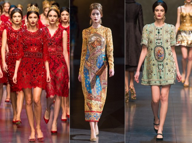 Dolce & Gabbana Fall 2013 Ready-to-Wear religious influence