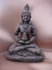 Buddha meditating in a sitting position
