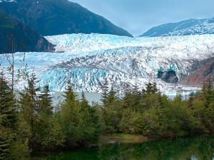 travel, alaska, mendenhall glacier