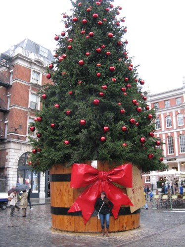 Christmas tree Covent Garden, London