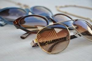 row of sunglasses