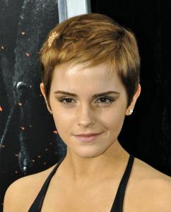 emma watson pixie hair cut