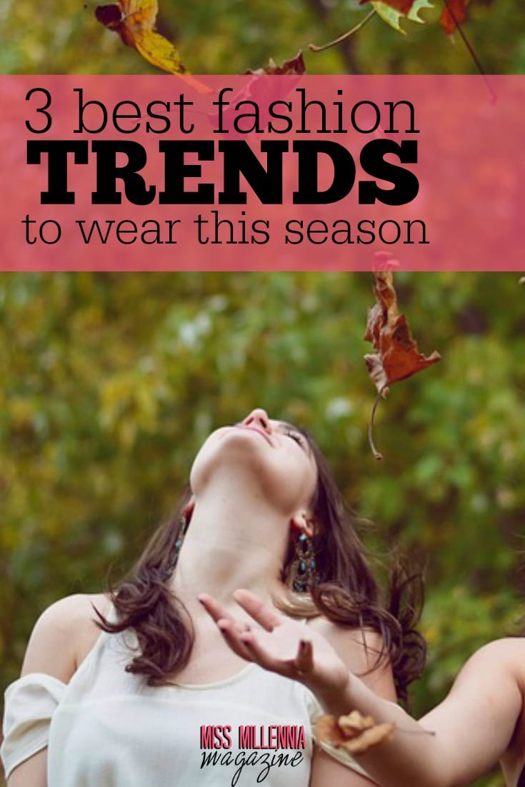 Now that the nights are drawing in, it's time to see what we're going to wrap ourselves up in this Autumn! Here are three amazing trends this season.