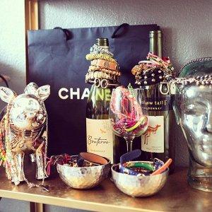 wine bottle jewelry organization