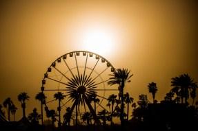Coachella ferris wheel sunset Indio, California