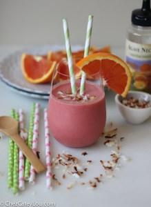 orange coconut strawberry smoothie