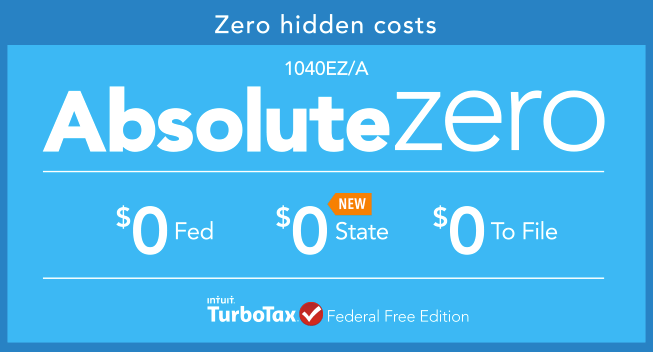 absolute zero turbo tax federal free edition