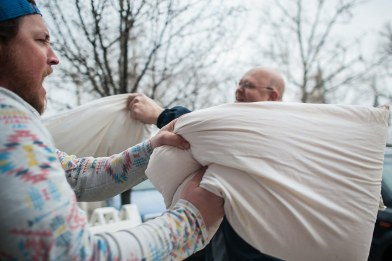 Start a pillow fight with a stranger GoBe games