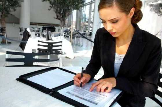 woman with a career working at desk