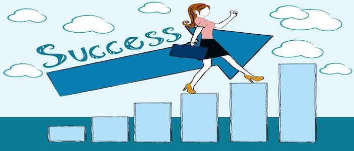 Woman finding career success