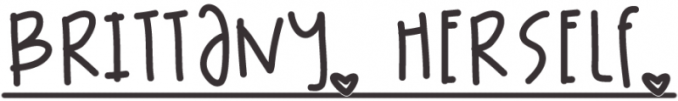 brittany, herself blog logo