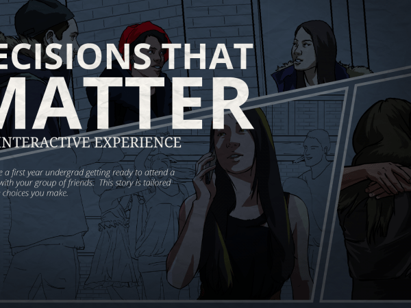 Screenshot of Decisions that Matter graphic novel by CMU