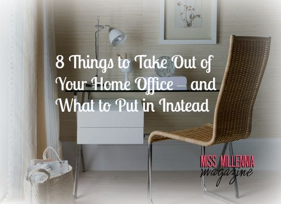 8 things to take out of your home office and what to put in instead graphic
