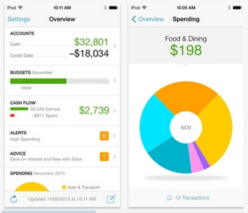 The Mint App helps you save money