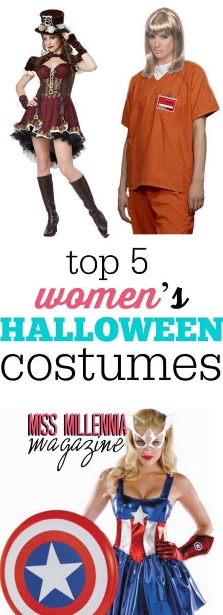 Unsure of what you want to dress up as for Halloween this year? Consult this guide for the top five women's costumes!