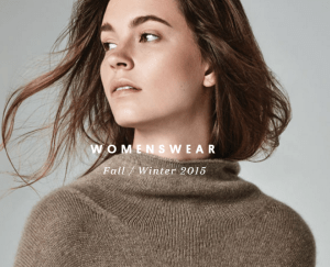 Girl wearing a naadam cashmere fall/winter 2015 sweater