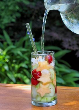 Fruit infused water works wonders for your skin