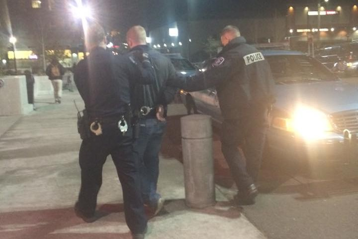Marshall being arrested from the sexual assualt
