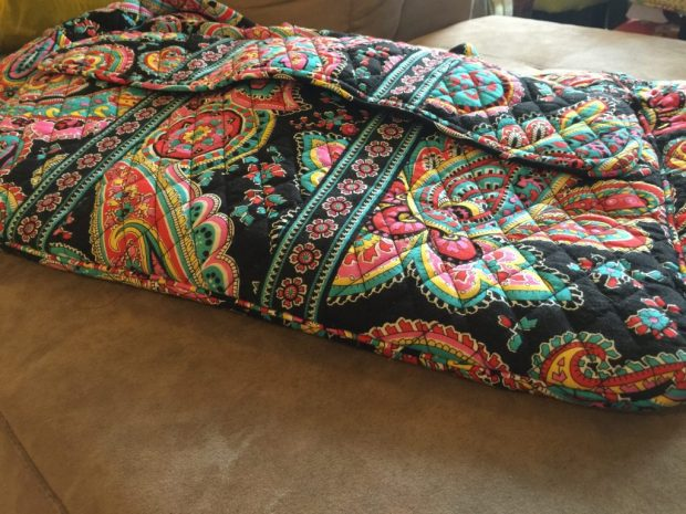 Vera Bradley bag is great for packing