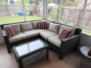 clean patio area