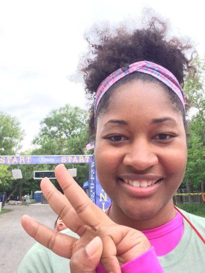 Jasmine running third 5k of 2015