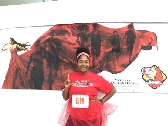 Jasmine running first 5k of 2015