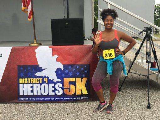 Jasmine running fifth 5k of 2015