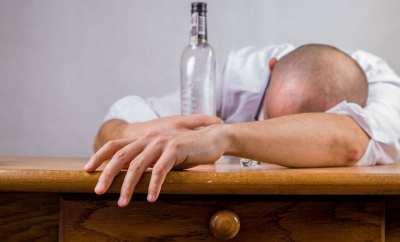 man drink too much
