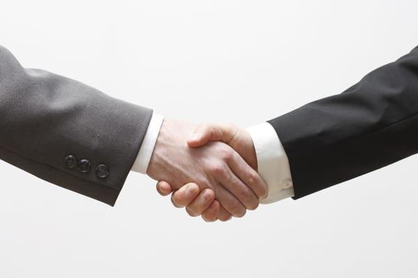 career change hand shake