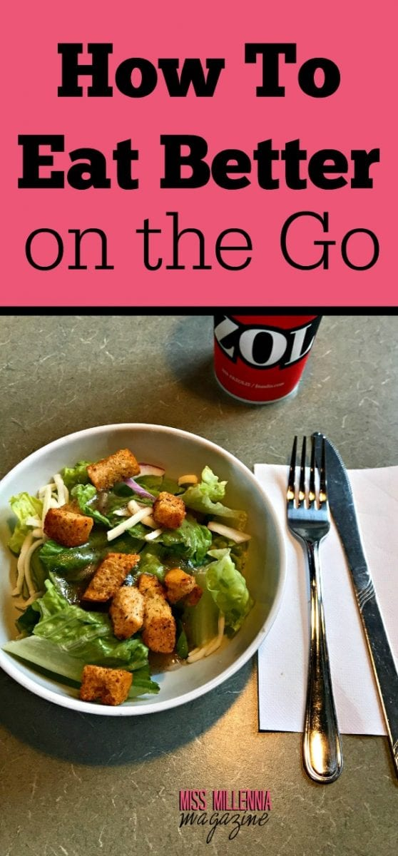 Well, I finally had enough and decided it was time to get smart about how to eat better when I am on the go. I partnered up with our friend's at Fazoli's® to come up with some important tips on how to eat better on the Go. Check out my tips below. AD
