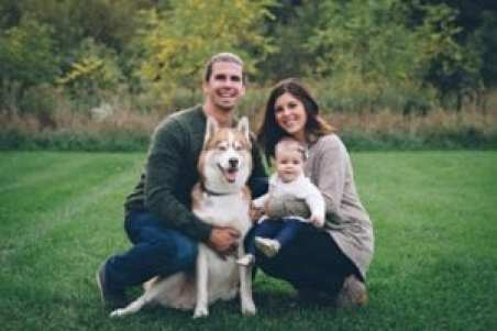 Taryn with her husband Pete, daughter Parker and Tahoe