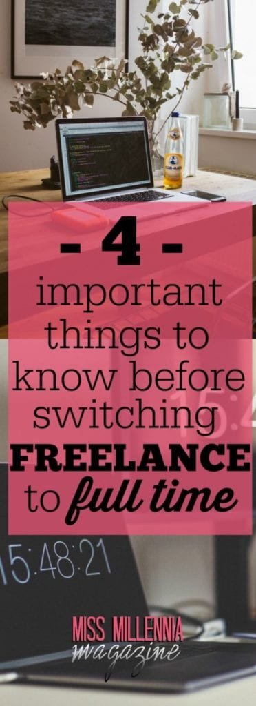 If you've been considering leaving your freelance career in favor of pursuing the full-time employment, here are a few things to ponder on.