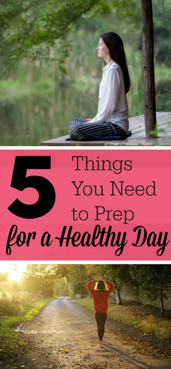 I have heard that if you start the day in a healthy way, you are more likely to make healthier choices throughout the day.  I want to share a few of my tips I learned on prepping for a healthy day.