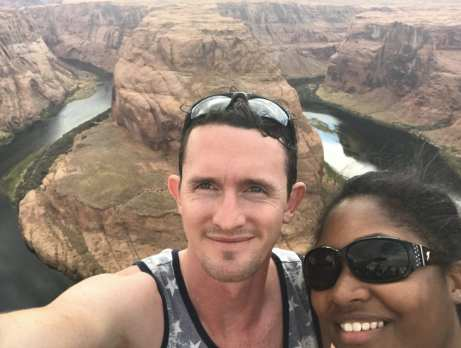 Jasmine Watts and Chris Drown at horseshoe bend